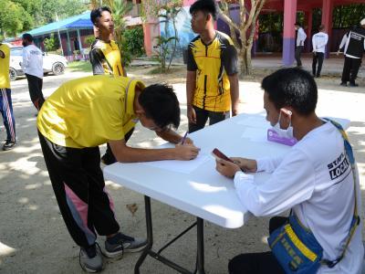 กิจกรรมทำความสะอาดศูนย์กักกันประจำตำบลลุโบะบือซา(โรงเรียนบ้านกาแ